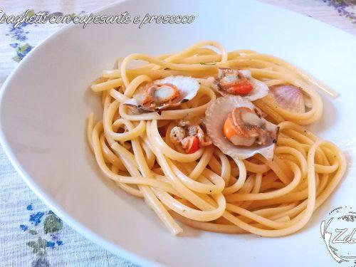 Spaghetti con capesante e prosecco
