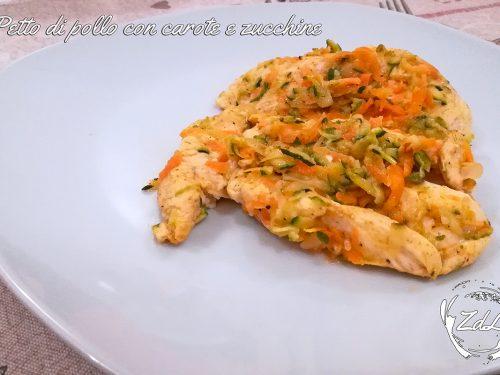Petto di pollo con carote e zucchine