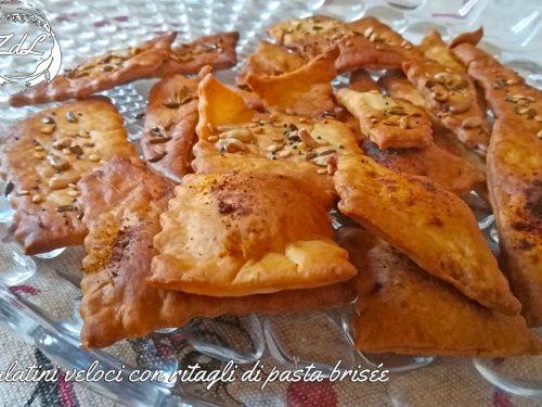 Salatini veloci con ritagli di pasta brisée