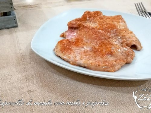Capocollo di maiale con miele e paprika