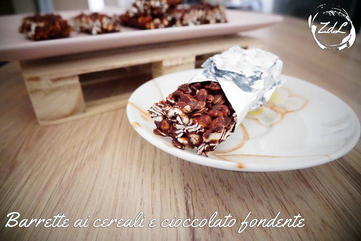 Barrette ai cereali e cioccolato fondente
