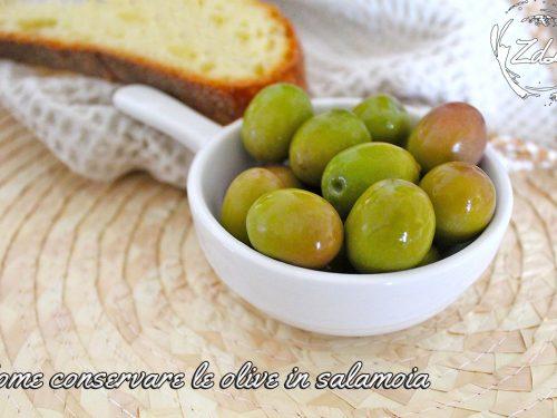 Come conservare le olive in salamoia