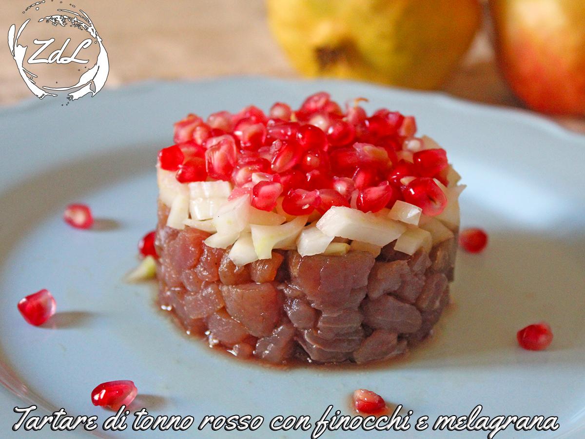 Tartare di tonno rosso con finocchio e melagrana