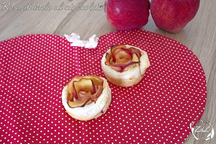 Rose di mele al cioccolato