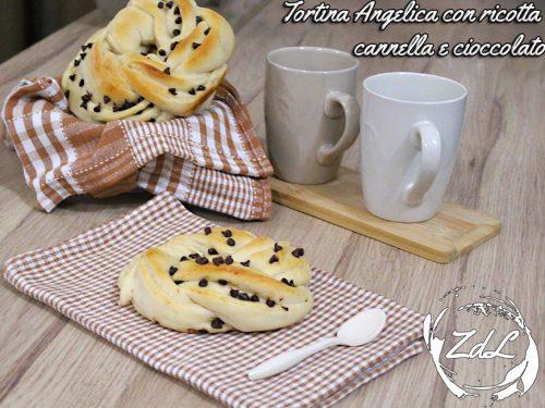 Tortina Angelica con ricotta cannella e cioccolato