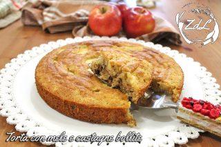 Torta con mele e castagne bollite