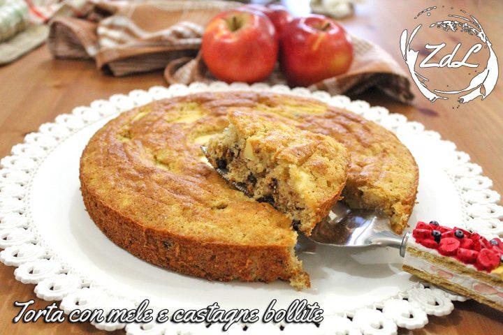 Torta di mele e castagne bollite