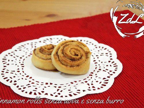 Cinnamon rolls senza burro e senza uova