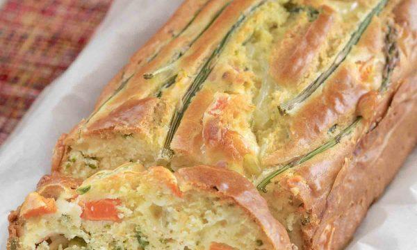 Plumcake salato con carote ed asparagi