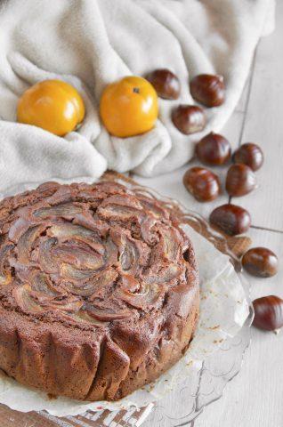 Torta deliziosa con farina di castagne ricetta deliziosa