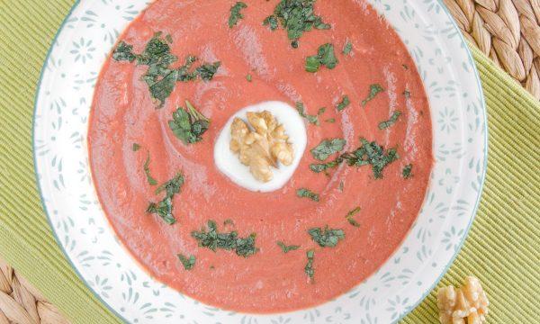 Vellutata di carote barbabietola e zucca