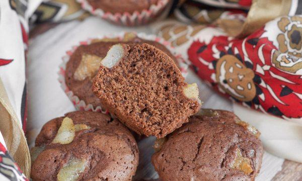 Muffin cioccolato fondente e pere
