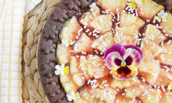Crostata golosa con frolla al cacao