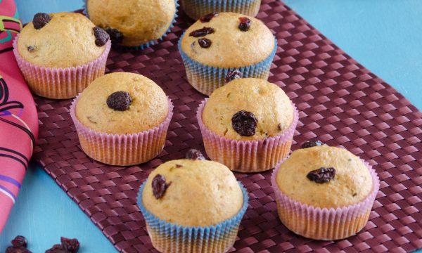 Muffin ai frutti rossi disidradati