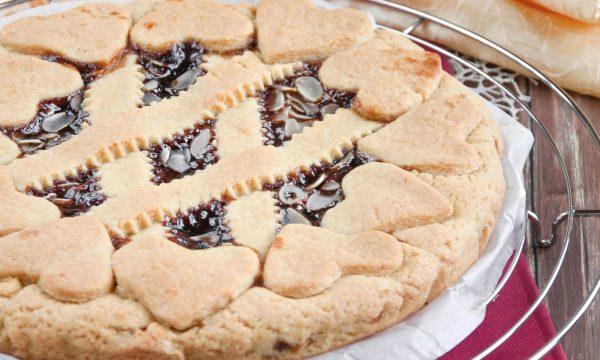 Crostata senza burro e confettura di ciliegie