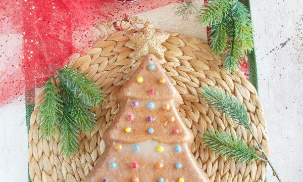 Torta albero di Natale all'arancia e vaniglia