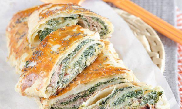 Rotolo salato con spinaci e ricotta