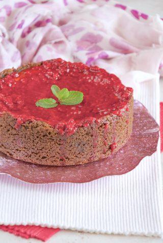 Cheesecake con ricotta e lamponi deliziosissima