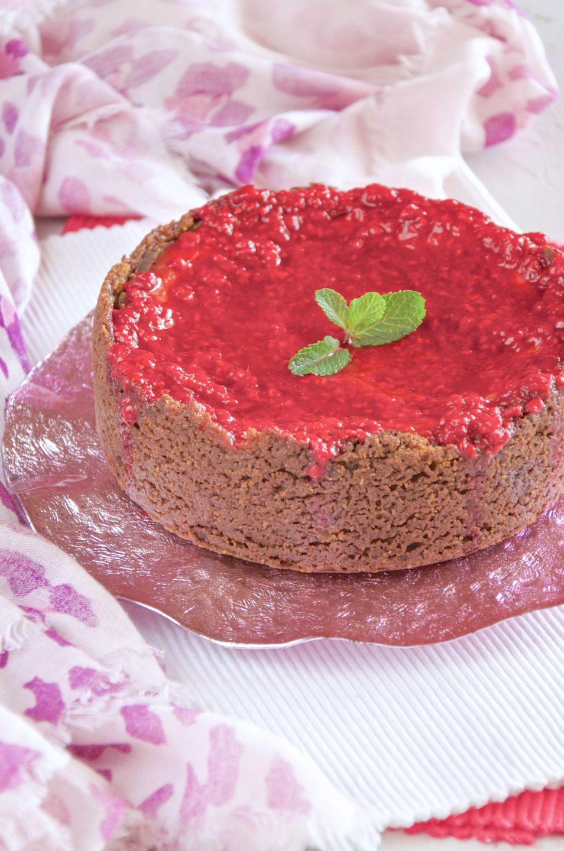 Cheesecake con ricotta e lamponi ricetta squisita
