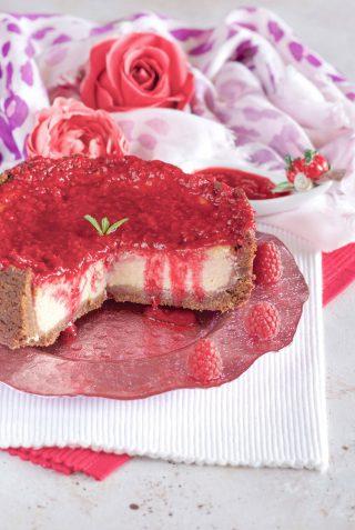 Cheesecake con ricotta e lamponi foto interno goloso