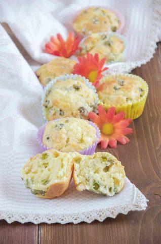 Muffin salati con piselli antipasto ottimo