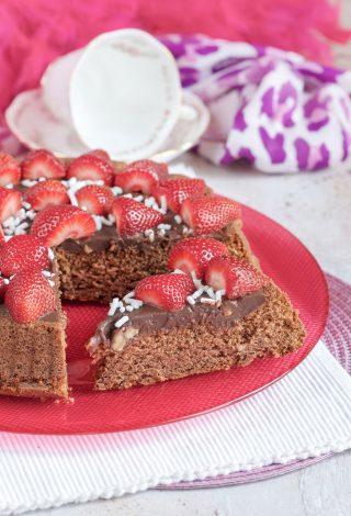 Crostata morbida al cioccolato fetta golosa