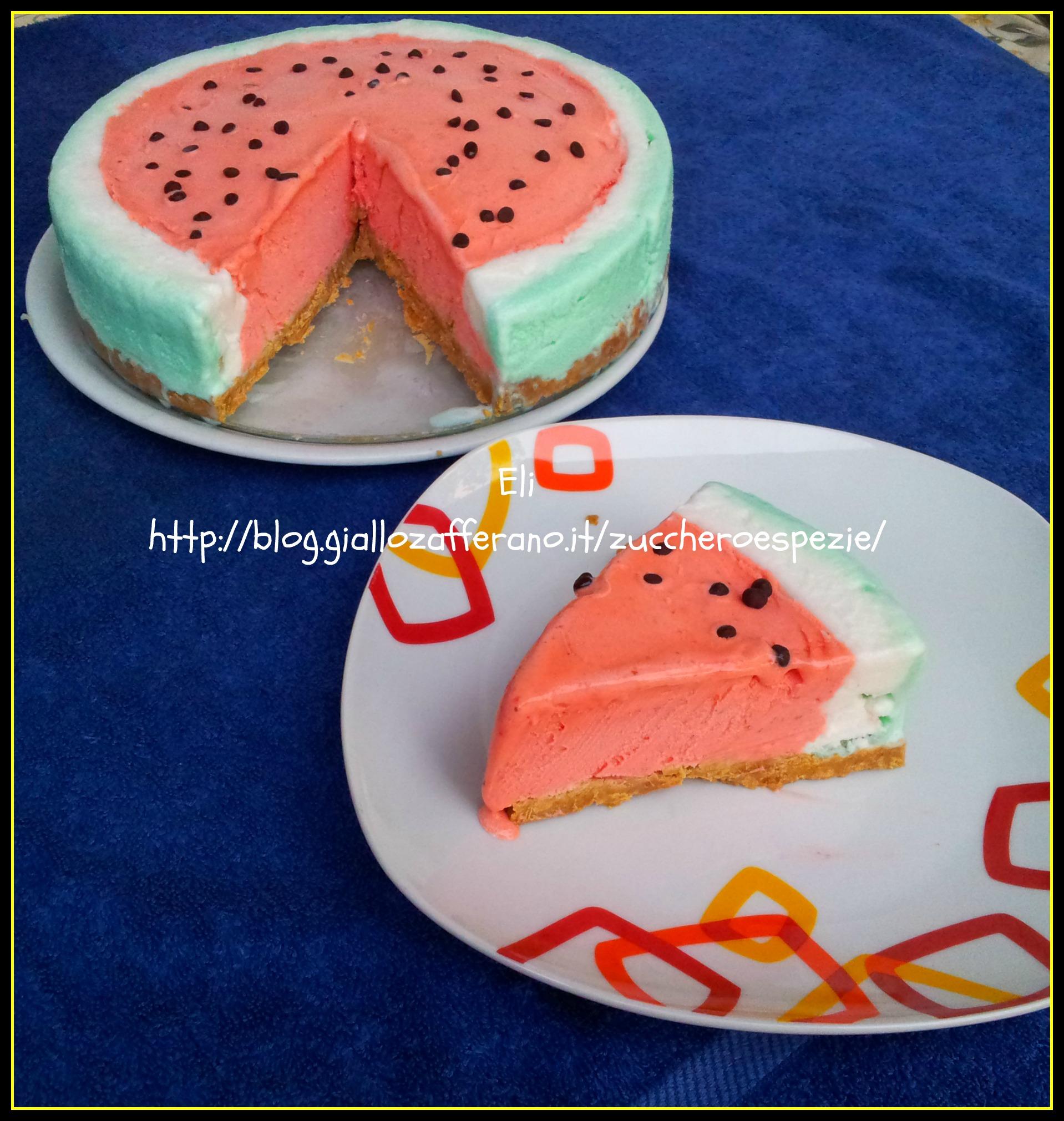 La torta gelato che ricorda un 39 anguria for Case a forma di u