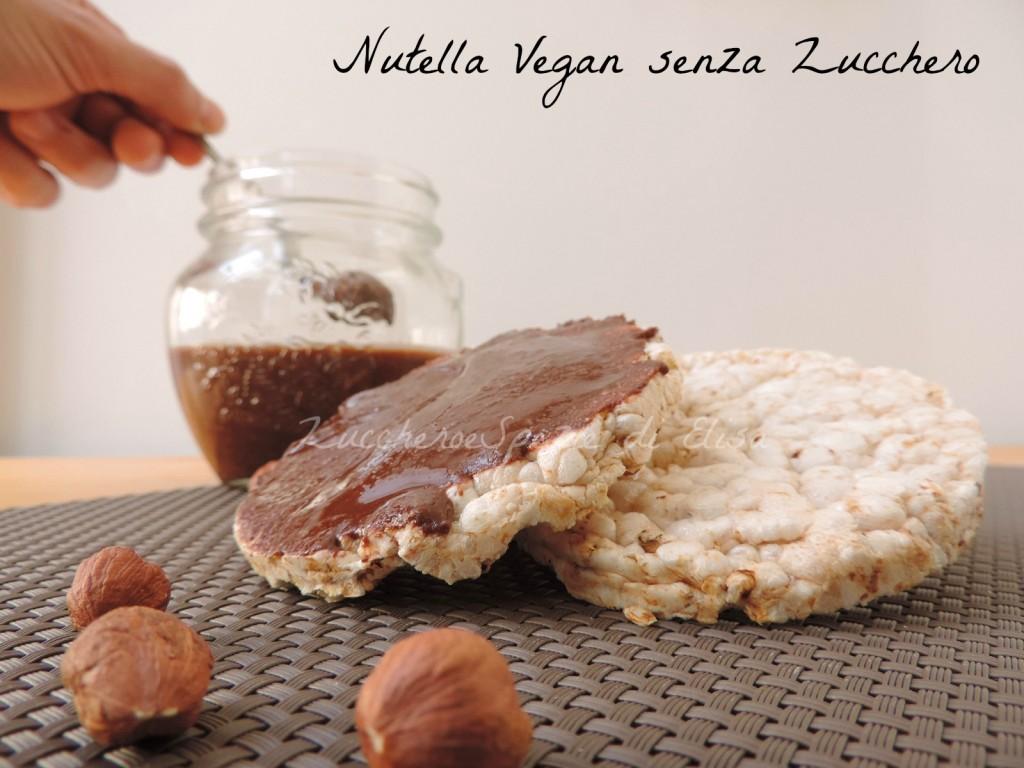 Nutella vegan senza zucchero