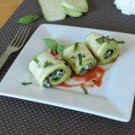 involtini di zucchine con ricotta e spianaci