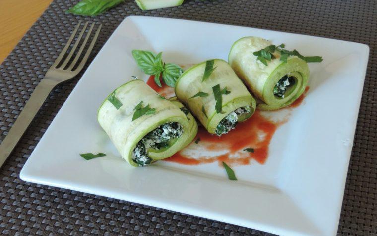 Involtini di zucchine ripieni di ricotta e spinaci