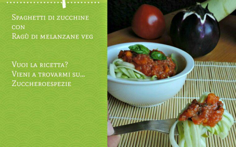 Spaghetti di zucchine con ragù di melanzana light