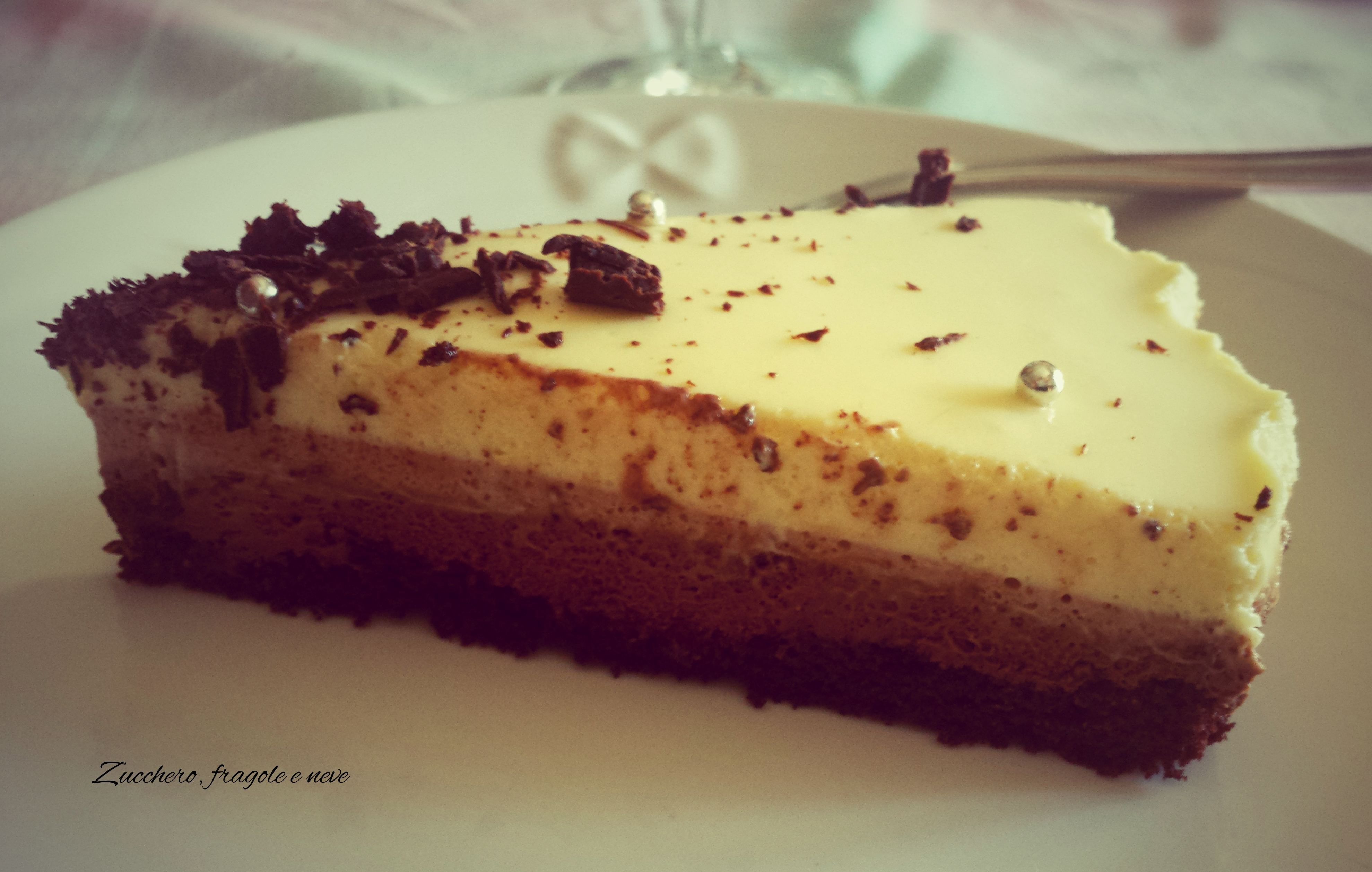 Tris: la mousse ai tre cioccolati