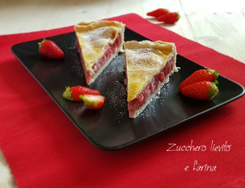 Strawberry pie – Crostata americana alle fragole