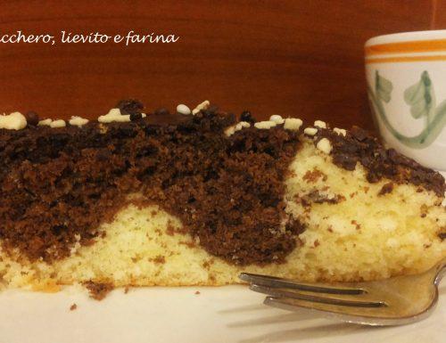 Torta marmorizzata al cioccolato