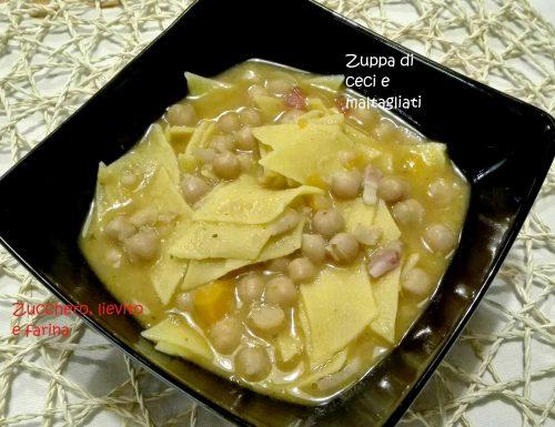Zuppa di ceci e maltagliati