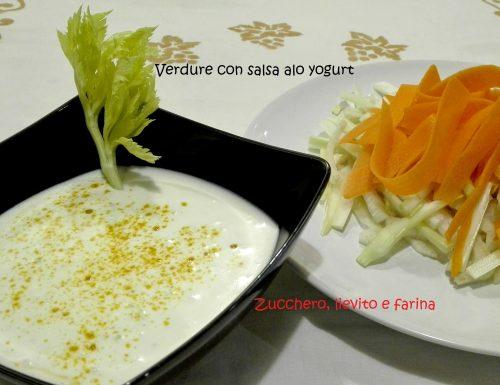 Verdure con salsa allo yogurt