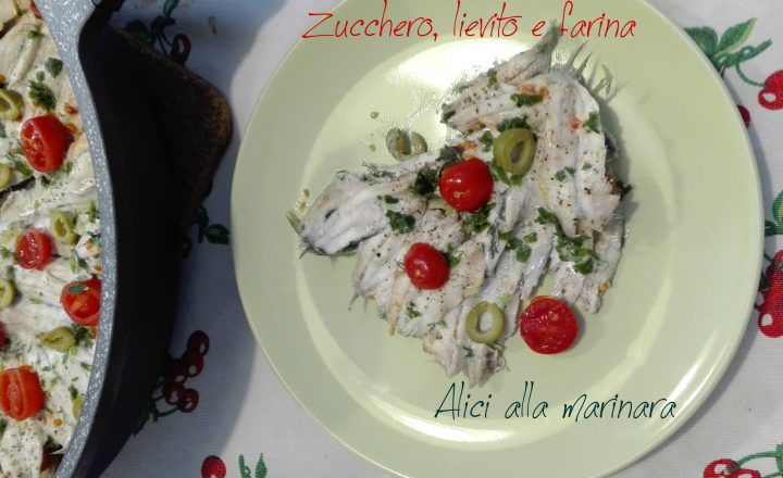 Alici alla marinara con olive