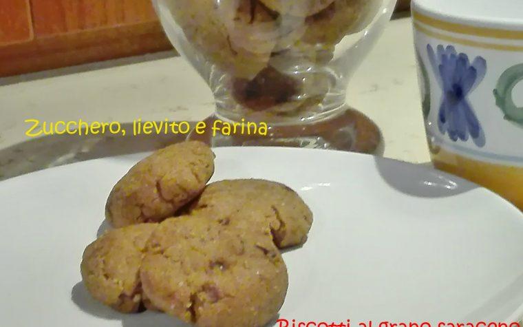 Biscotti al grano saraceno con zucchero di cocco