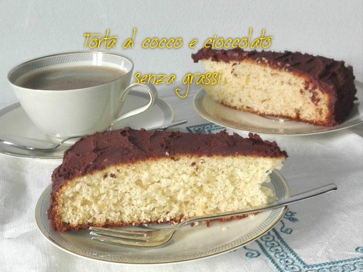 torta al cocco e cioccolato senza grassi
