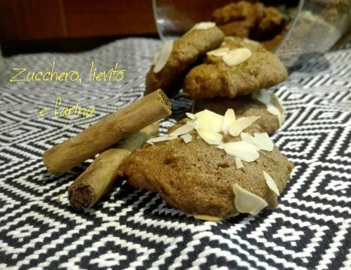Biscotti integrali all'olio con zucchero di cocco e cannella