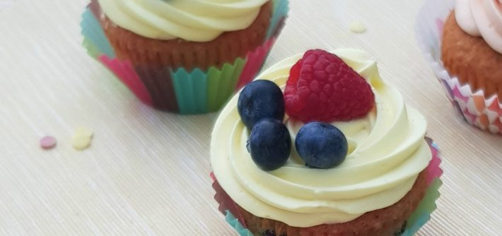 cupcake ai frutti di bosco
