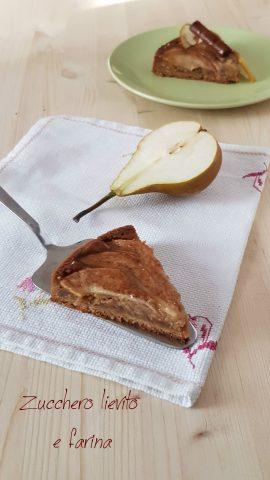 crostata pere e cannella senza zucchero