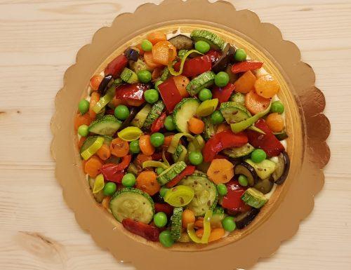 Crostata salata di verdura
