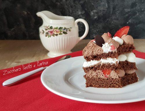 Cream tarte al cioccolato e fragole