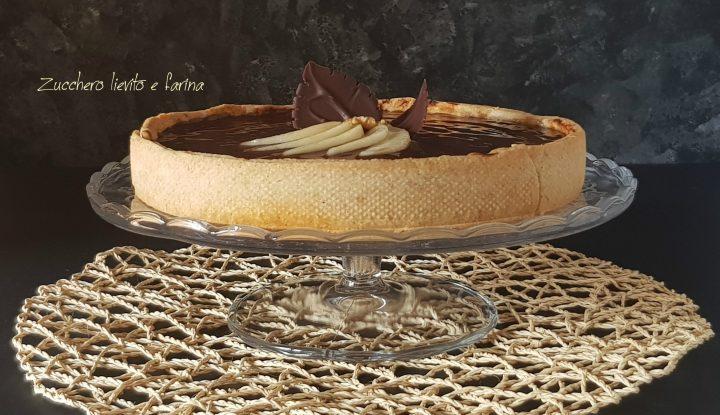Chocolate pear pie