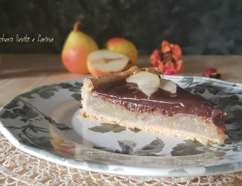 Chocolate pear pie